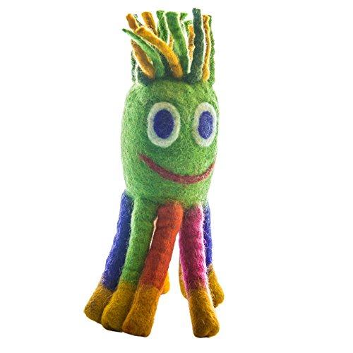 le-sharma-eco-octopus-handmade-100-natural-boiled-wool-organic-dog-toys-11-l-large-green