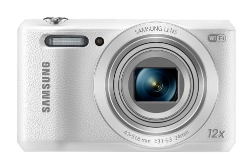 Samsung WB35F 16.2MP Smart WiFi & NFC Digital Camera with 12x Optical Zoom and 2.7″ LCD (White)