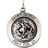 18.25 Sterling Silver Rd St. George Pend Medal W/ 18 Inch Chain