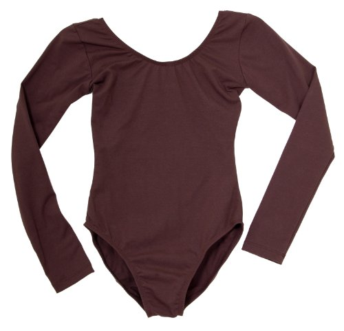 "Child's / Girl's Long Sleeve Brown Leotard by ""American Theater Dancewear"" in Brown"