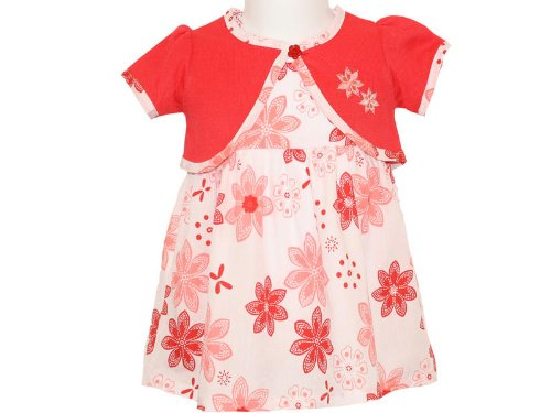 Isabelle Rose Baby Girls Red Shrug & Dress Outfit - 6-9 Months