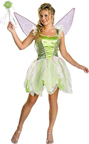Disguise Costumes Women's Tinker Bell Deluxe Jr, 7-9