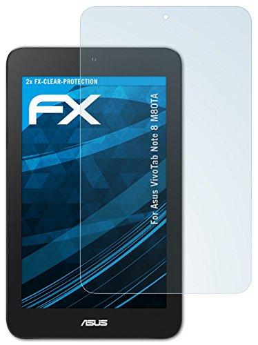 2 x atFoliX Protezione Pellicola dello Schermo Asus VivoTab Note 8 (M80TA) Pellicola Protettiva - FX-Clear ultra
