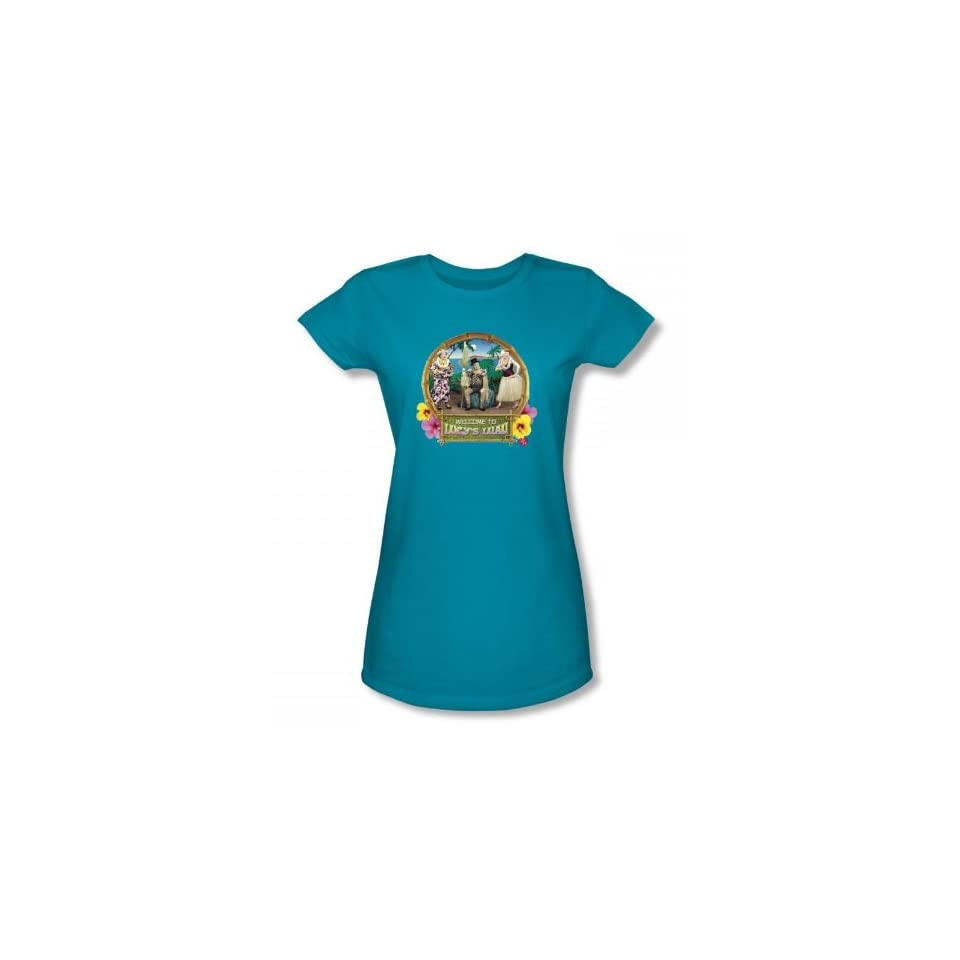 I Love Lucy   Lucy's Luau Juniors / Girls T Shirt In Turquoise Clothing