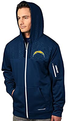 "San Diego Chargers Majestic ""Action"" Men's F/Z Therma Base Hooded Sweatshirt"