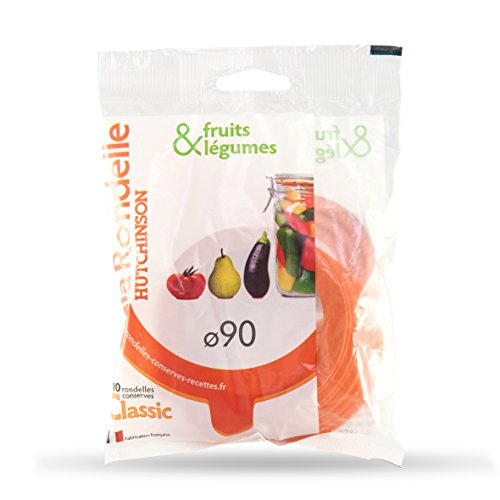 Hutchinson 45427 Sachet de 10 Rondelles pour Fruits/Légumes Caoutchouc Orange 90 x 68 x 25 cm