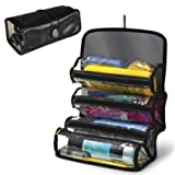 Roll Up Cosmetic Travel 4 Compartments Organizer Grooming Storage Makeup Space
