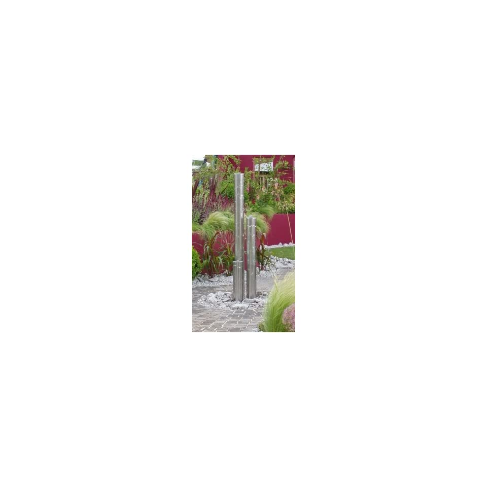 Tigris Stainless Steel Tube Water Feature by Stowasis SKSEG0595   Calais 46 Tigris Polished w/ Bowl