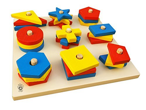 Skillofun 9 Shape Stack & Sort Puzzle Tray