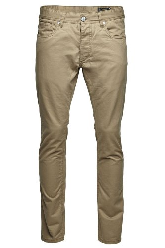 JACK & JONES Herren Chino Hose TIM ORIGINAL ELMWOOD, Gr. 52 (33/34), Braun (Elmwood)