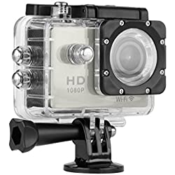 Floureon Y8-P WiFi Action Camera Impermeabile 1080P HD 12MP Sports Video Camera DV Argento