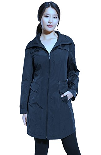 Cole Haan Women's Hooded Packable Jacket Small Ink Blue (Cole Haan Hooded compare prices)
