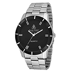 Ferry Rozer Analog Round Shape Metal Belt Black Dial Watch For Men & Boys