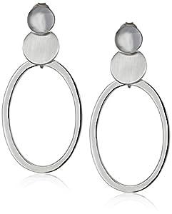 Argento Vivo Sterling Silver Oval Hoop Earrings