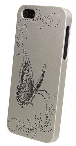 Trendline24 A portafoglio Design Butterfly colore argento per mela iPhone 5