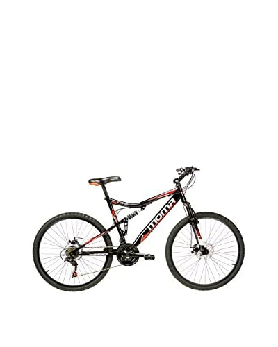 MOMA BIKES Bicicleta Btt 26 Hi-Ten Full Susp. Full Disc 21V Hit1.0 Negro