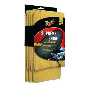 Meguiar's Supreme Shine Microfiber Cloths (Pack of 3) by Meguiar's