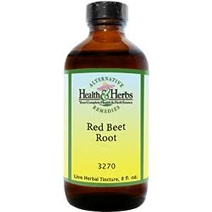Alternative Health & Herbs Remedies Red Beet Root 8-Ounce Bottle