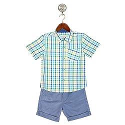 TONYBOY Boys Shirt and Shorts Combo (Blue)