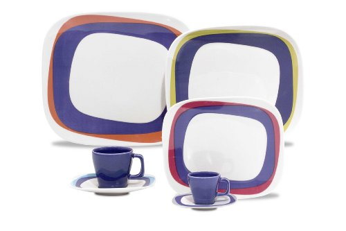 Karim Rashid 30 Pieces Porcelain Dinnerware / Espresso Set (Koil)