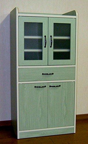 カジュアルミニ食器棚(グリーン木目)N-MSYBC-GR
