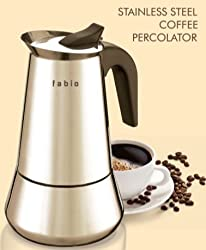 FABIO 12 cups 304 Grade Stainless Steel Coffee Percolator
