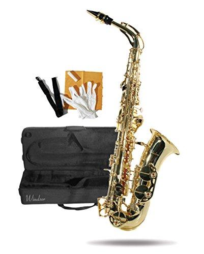 Windsor MI-1005 Sassofono contralto con valigetta, laccato oro