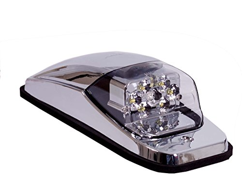 Maxxima M27011Ycl Amber Led Clear Lens Chrome Upper Cab Marker Light