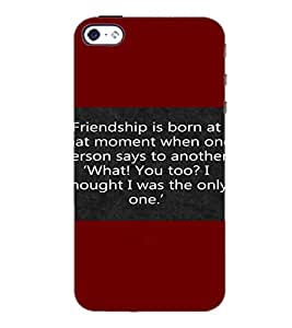 PrintDhaba Quote D-4417 Back Case Cover for APPLE IPHONE 5 (Multi-Coloured)