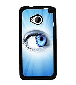 PrintDhaba Eye D-3346 Back Case Cover for HTC ONE M7 (Multi-Coloured)