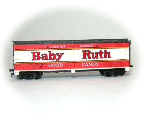Vintage Tyco Brown Box Era HO Scale Baby Ruth Billboard Reefer Train Car