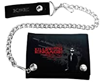 """Bravado Killswitch Engage """"Suit Skull"""" Black Faux Leather Chain Wallet"""