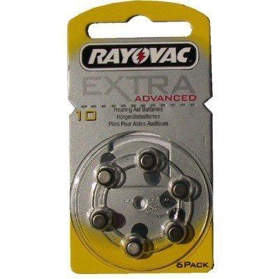 Rayovac extra type 10 zinc air pR70 zL4 p10 lot de 60