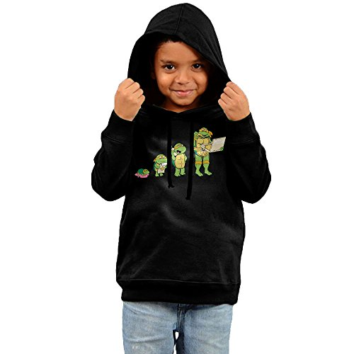 Kid's Ninja Turtles Michelangelo Pizza Fleece Hoodie Sweatshirt 2 Toddler