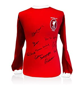 Liverpool 1965 FA Cup Shirt - Signed By 10 of the Team from A1 Sporting Memorabilia