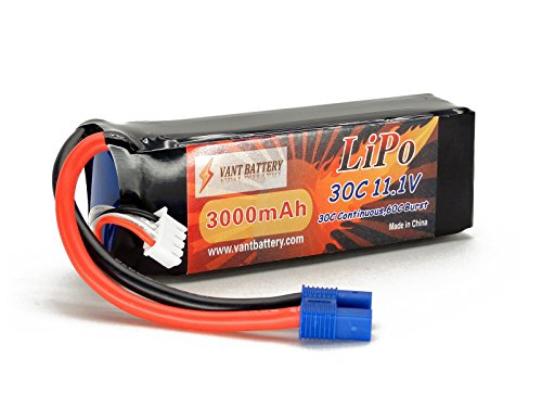 11.1V 3000mAh 3S Cell 30C-60C LiPo Battery Pack w/ EC3 (EC-3) Connector Plug (Airplane Helicopter Quadcopter Multirotor Drone UAV FPV 3S3000-30-EC3 EFLB30003S30) (Eflite Blade 350 compare prices)