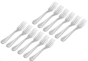Taiwon Metal Stainless Steel European Aristocrat pattern flatware, Cake Fork set of 12