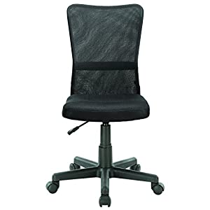 LexMod Comfort-Flex Black Mesh Task Chair