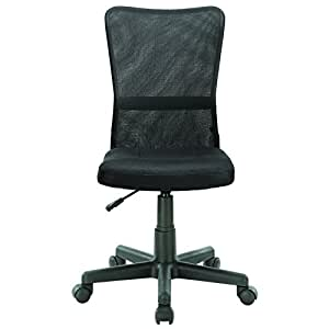 LexMod Comfort-Flex Black Mesh Task Chair