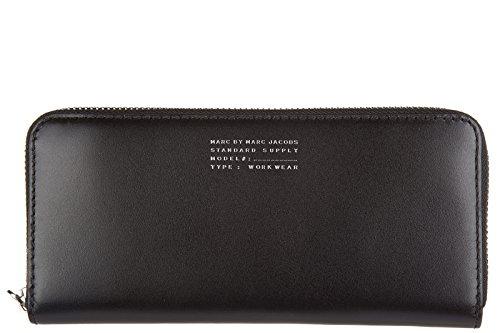 Marc by Marc Jacobs portafoglio portamonete donna in pelle bifold nero