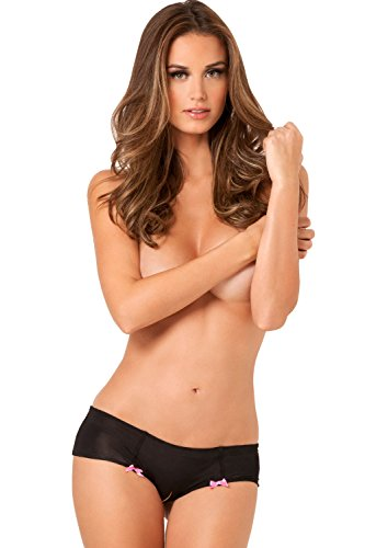 rene-rofe-womens-hot-dots-crotchless-boyshort-black-medium-large