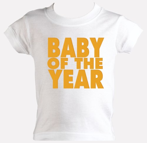Baby Of The Year Retro T-Shirt WHITE Baby Clothes sizes 0-6 months
