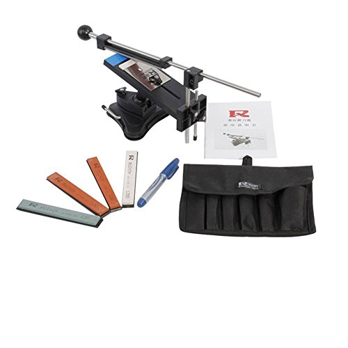 IMAGE Professional Kitchen Knife Sharpener System Kit Fix-angle Version II With 4 Stones (Razor Edge Sharpening Stone compare prices)