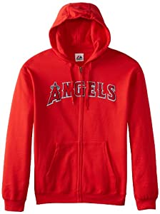 MLB Los Angeles Angels Shut Out Fleece, Athletic Red by Majestic