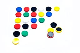 Scribble 1 Inch Whiteboard/refrigerator Magnets, Pack of 24, Assorted Colors