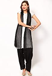 Castle Women's Salwar With Dupatta (Black_Free Size)