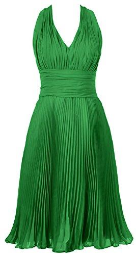 MACloth donne Halter scollo a V abito corto da cocktail, matrimoni, feste formali Abito Green 52