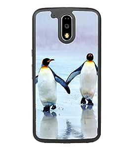 Penguins on Beach 2D Hard Polycarbonate Designer Back Case Cover for Motorola Moto G4 Plus :: Moto G4+