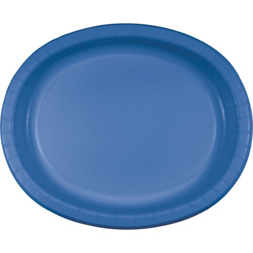 "Oval Platter 10""X12"" 8/Pkg-True Blue"
