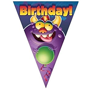 Monster Mania Birthday Flag Banner from Creative Converting